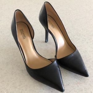 Michael Kors black leather heels size 6.5